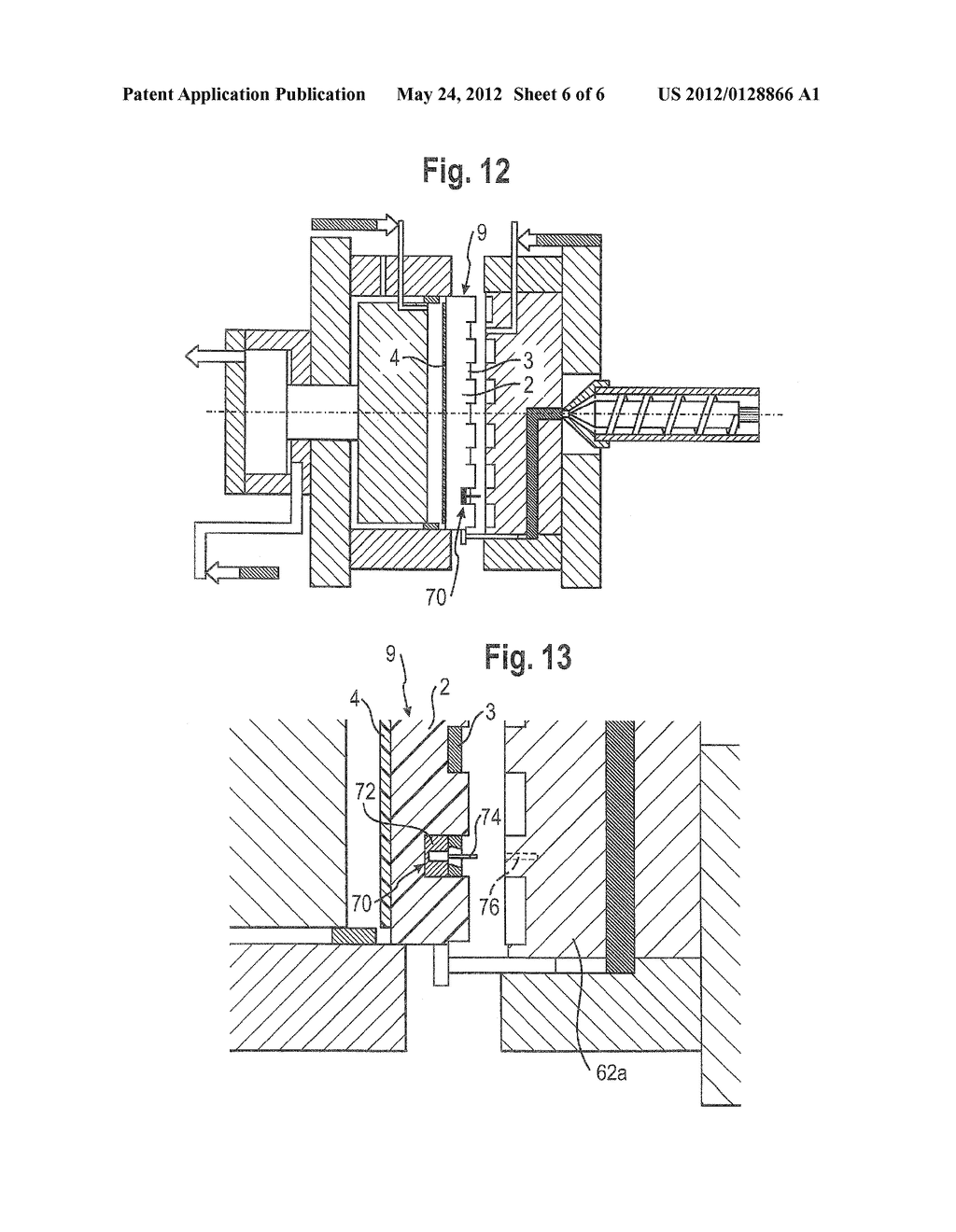 METHOD FOR PRODUCING PLASTIC MOLDED PARTS HAVING AN INTEGRATED CONDUCTIVE     TRACK - diagram, schematic, and image 07