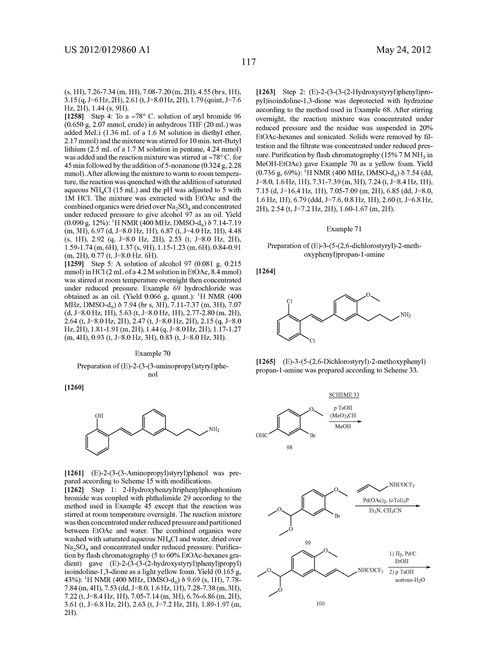 STYRENYL DERIVATIVE COMPOUNDS FOR TREATING OPHTHALMIC DISEASES AND     DISORDERS - diagram, schematic, and image 120