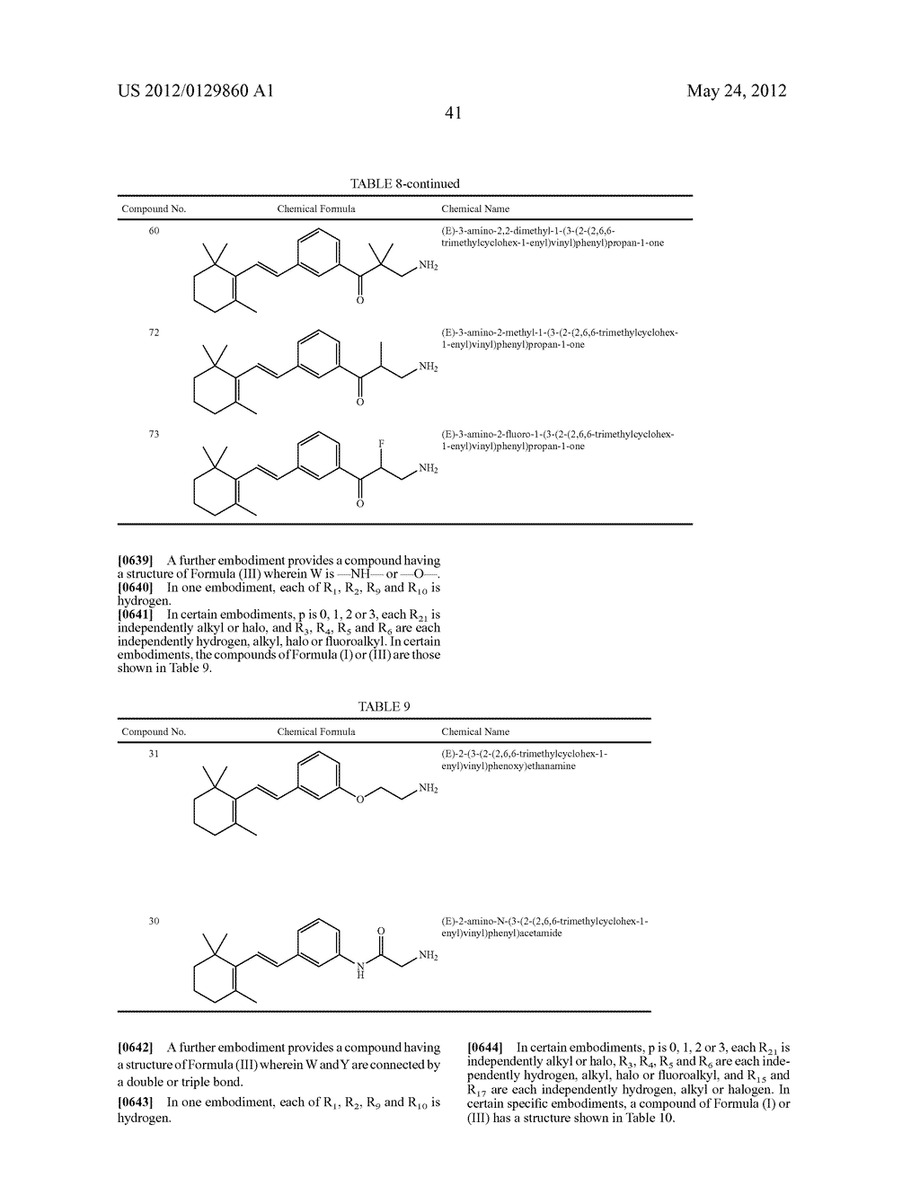 STYRENYL DERIVATIVE COMPOUNDS FOR TREATING OPHTHALMIC DISEASES AND     DISORDERS - diagram, schematic, and image 44