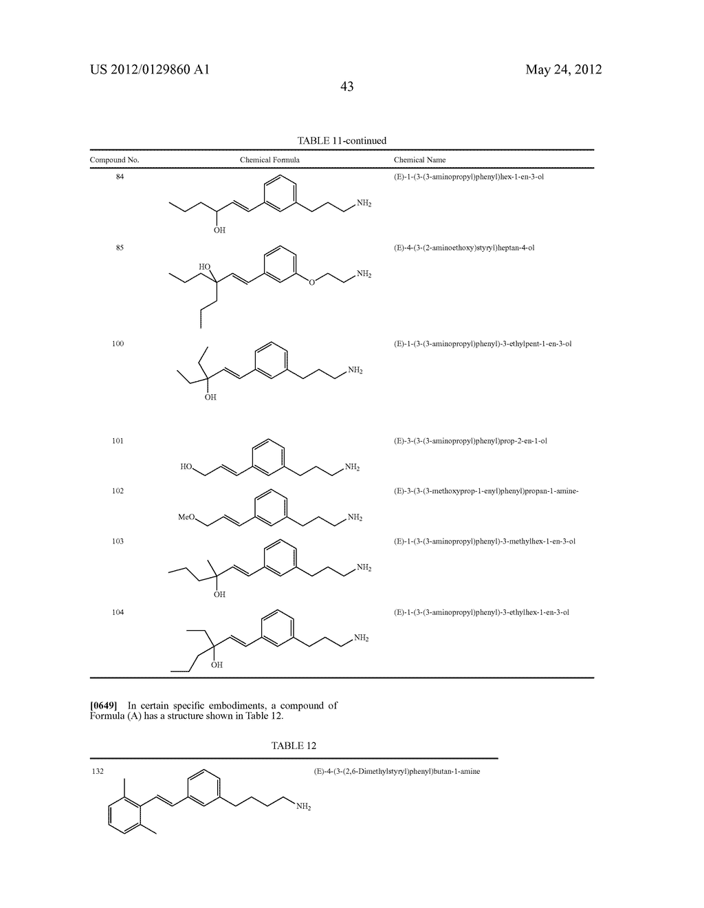 STYRENYL DERIVATIVE COMPOUNDS FOR TREATING OPHTHALMIC DISEASES AND     DISORDERS - diagram, schematic, and image 46