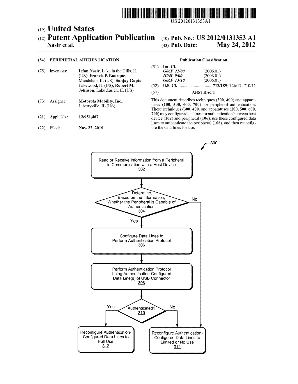 PERIPHERAL AUTHENTICATION - diagram, schematic, and image 01