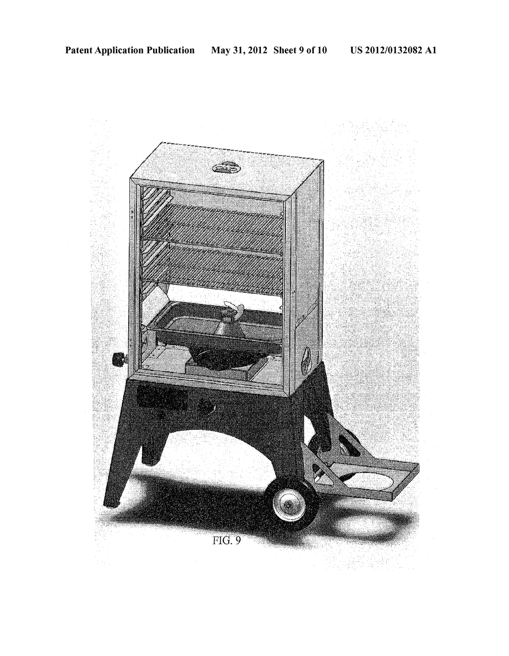 Device for cooking with a combination of steam and smoke - diagram, schematic, and image 10