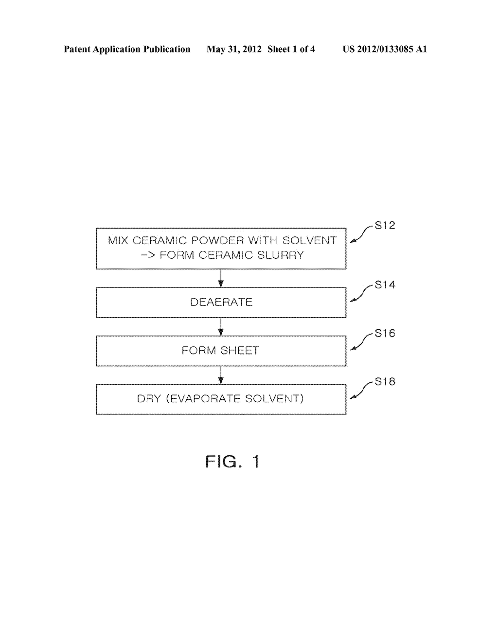 CERAMIC GREEN SHEET DRYING APPARATUS AND METHOD OF FABRICATING CERAMIC     GREEN SHEET USING THE SAME - diagram, schematic, and image 02