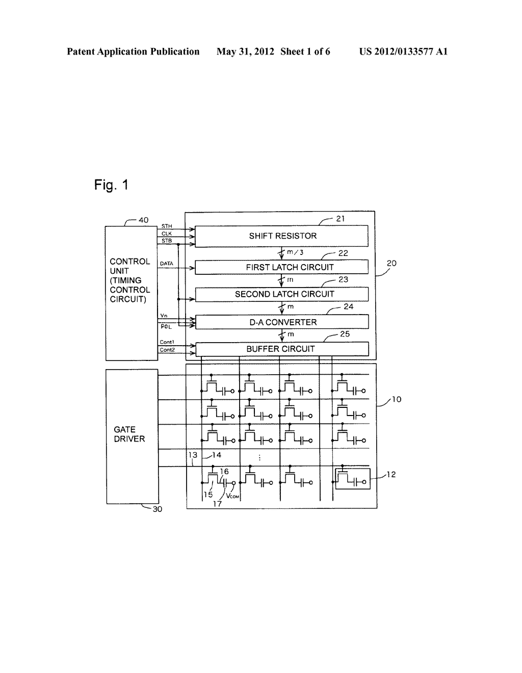 DRIVE DEVICE FOR LIQUID CRYSTAL DISPLAY PANEL - diagram, schematic, and image 02