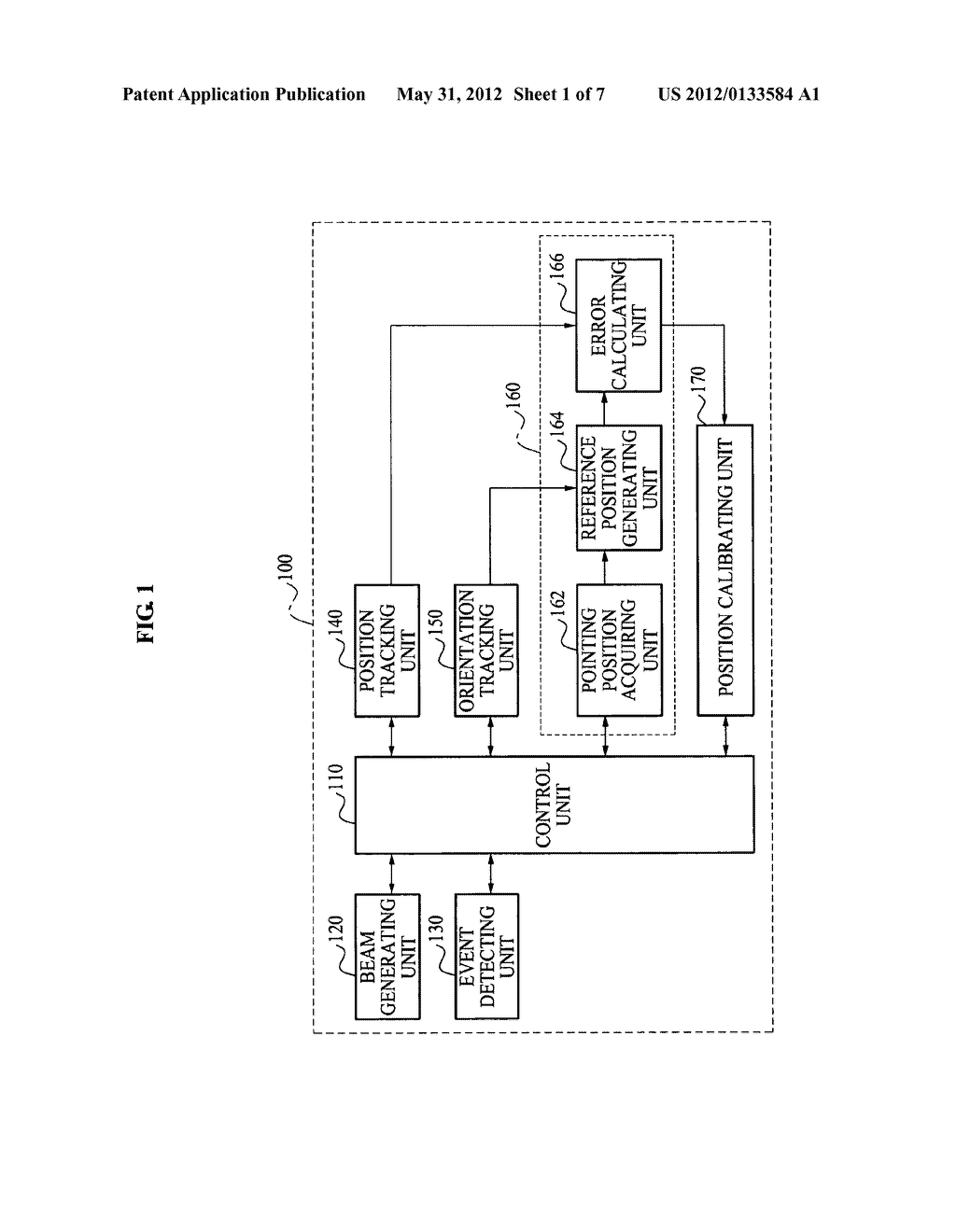 Apparatus and method for calibrating 3D position in 3D position and     orientation tracking system - diagram, schematic, and image 02