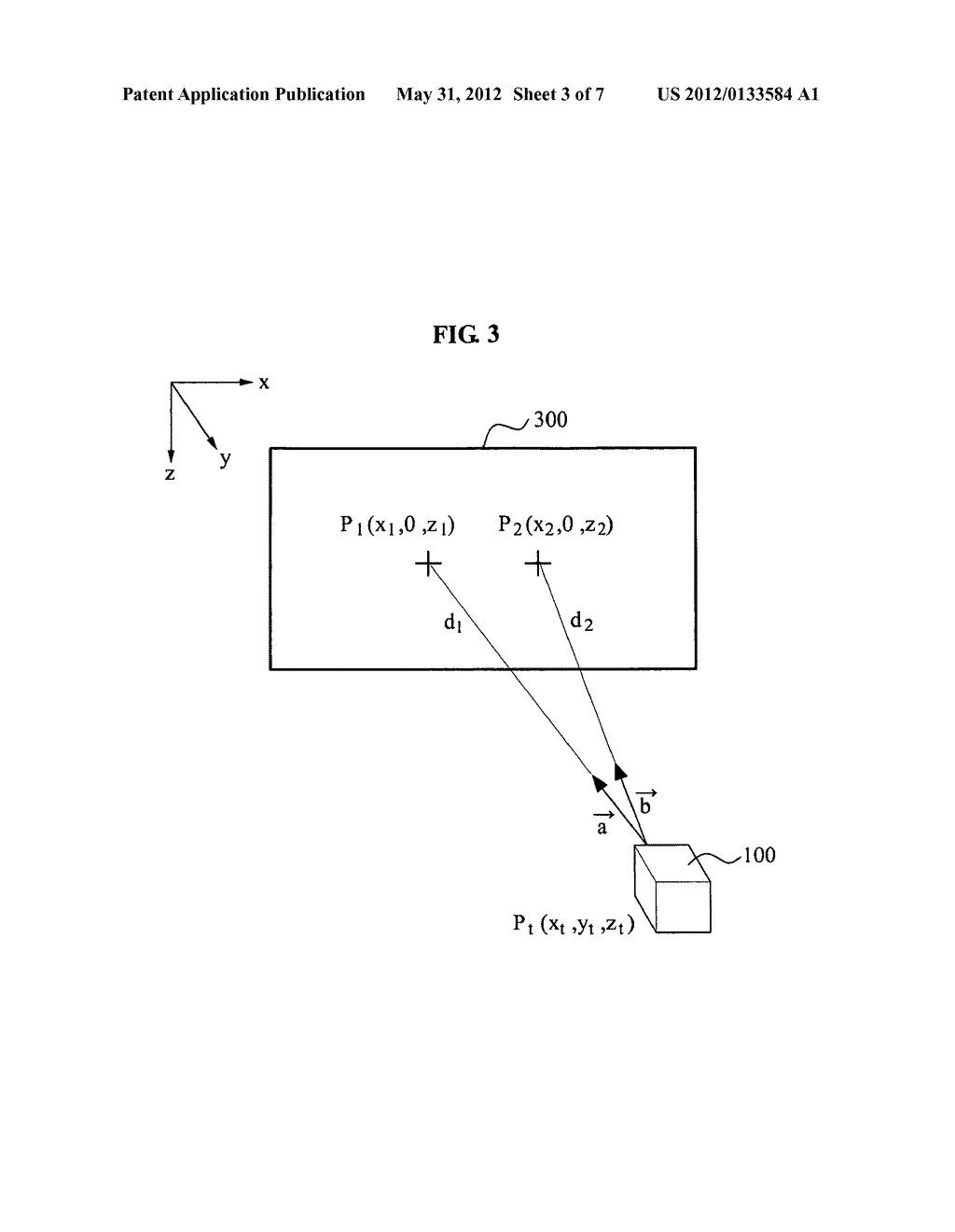 Apparatus and method for calibrating 3D position in 3D position and     orientation tracking system - diagram, schematic, and image 04