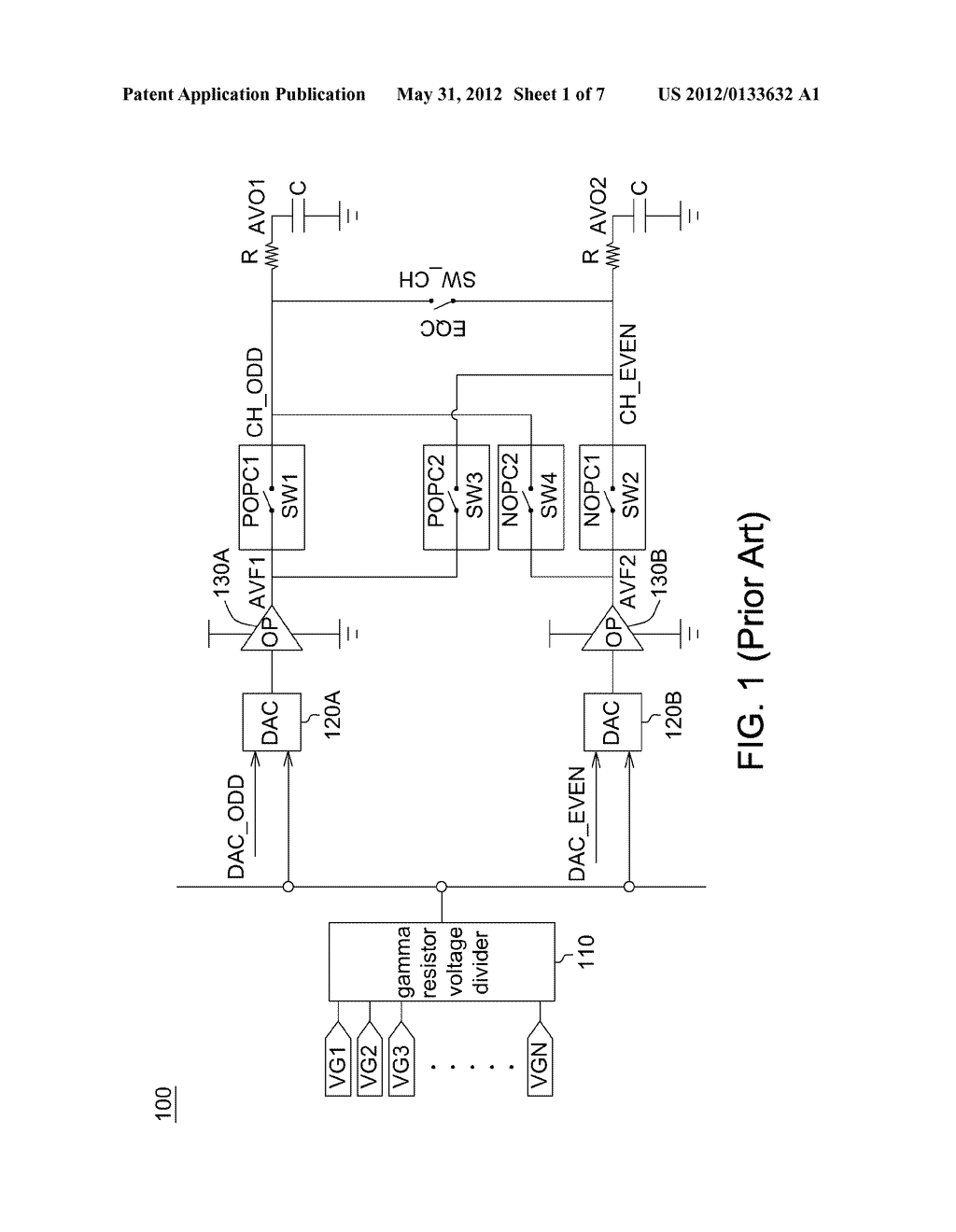 OPERATIONAL AMPLIFIER AND DISPLAY DRIVING CIRCUIT USING THE SAME - diagram, schematic, and image 02