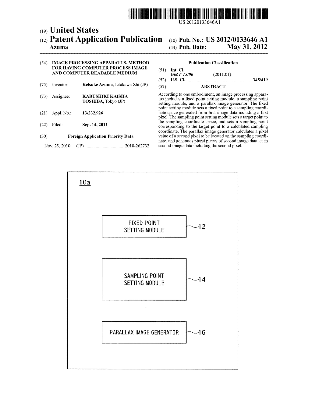 IMAGE PROCESSING APPARATUS, METHOD FOR HAVING COMPUTER PROCESS IMAGE AND     COMPUTER READABLE MEDIUM - diagram, schematic, and image 01