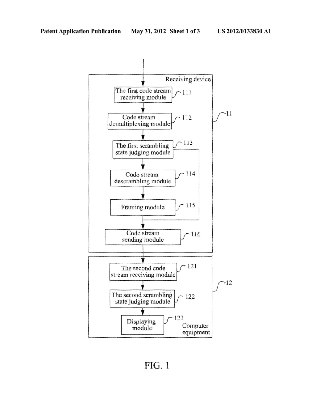 Receiving Method, Terminal Equipment And Receiving Device For Mobile     Digital Multimedia Service - diagram, schematic, and image 02
