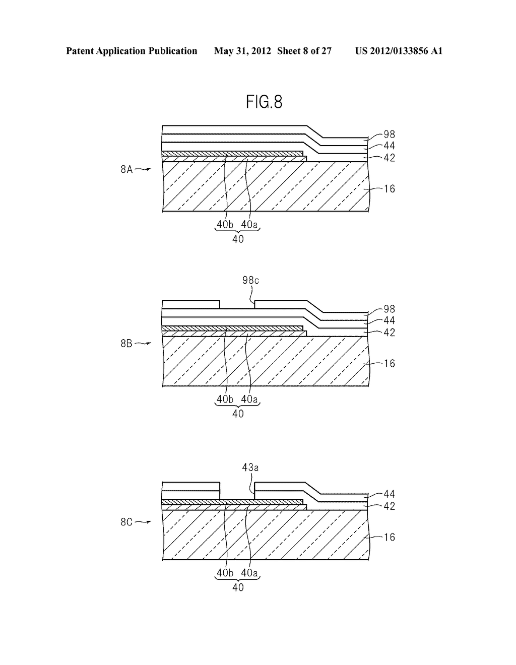 LIQUID CRYSTAL PANEL, LIQUID CRYSTAL DISPLAY DEVICE, AND MANUFACTURING     METHOD THEREOF - diagram, schematic, and image 09