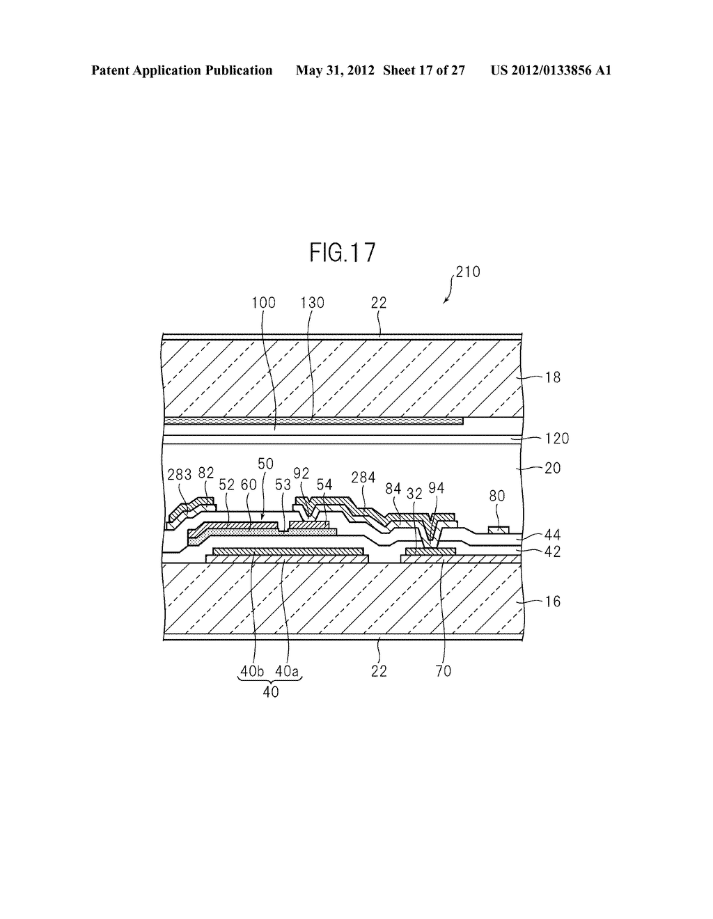 LIQUID CRYSTAL PANEL, LIQUID CRYSTAL DISPLAY DEVICE, AND MANUFACTURING     METHOD THEREOF - diagram, schematic, and image 18