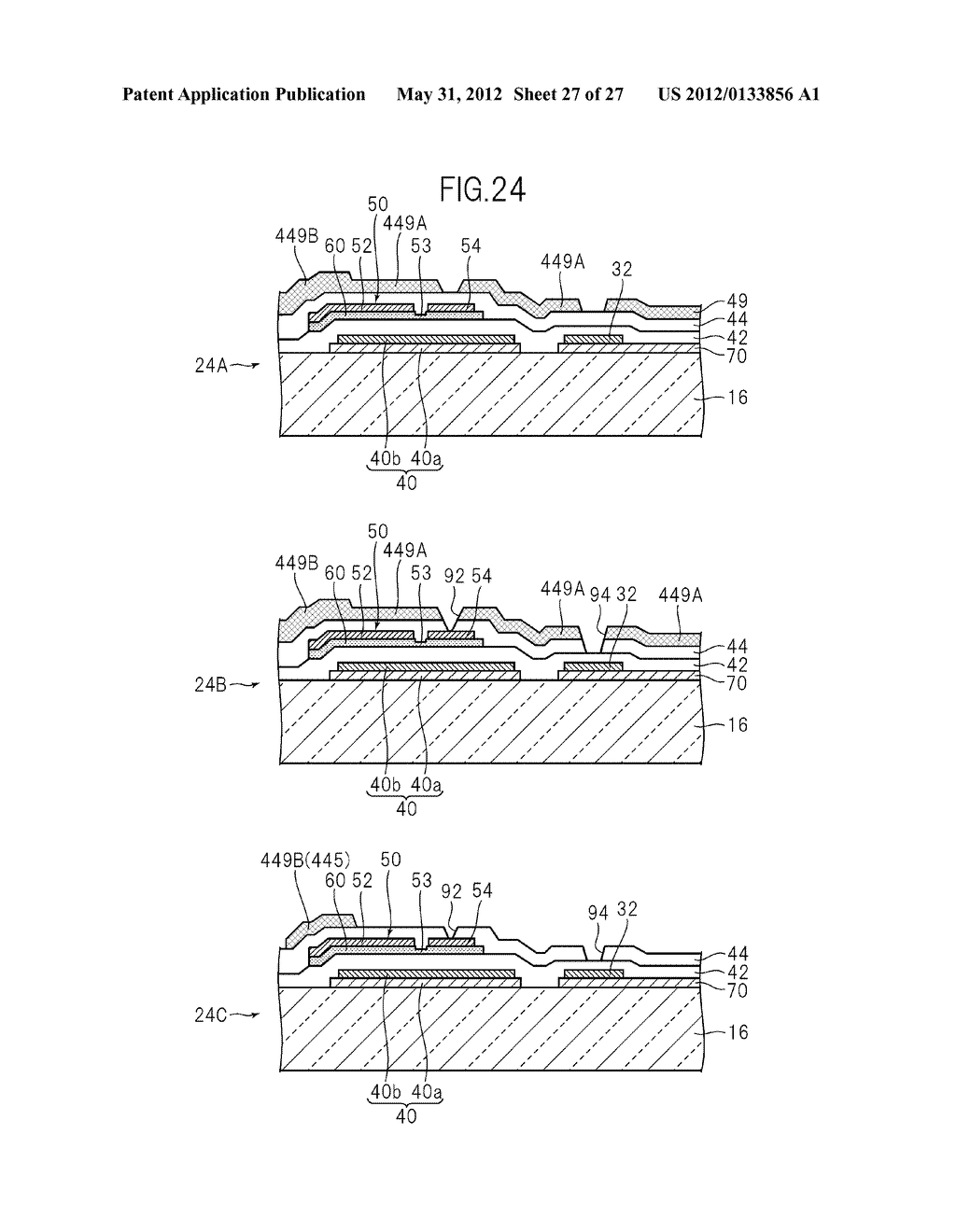 LIQUID CRYSTAL PANEL, LIQUID CRYSTAL DISPLAY DEVICE, AND MANUFACTURING     METHOD THEREOF - diagram, schematic, and image 28