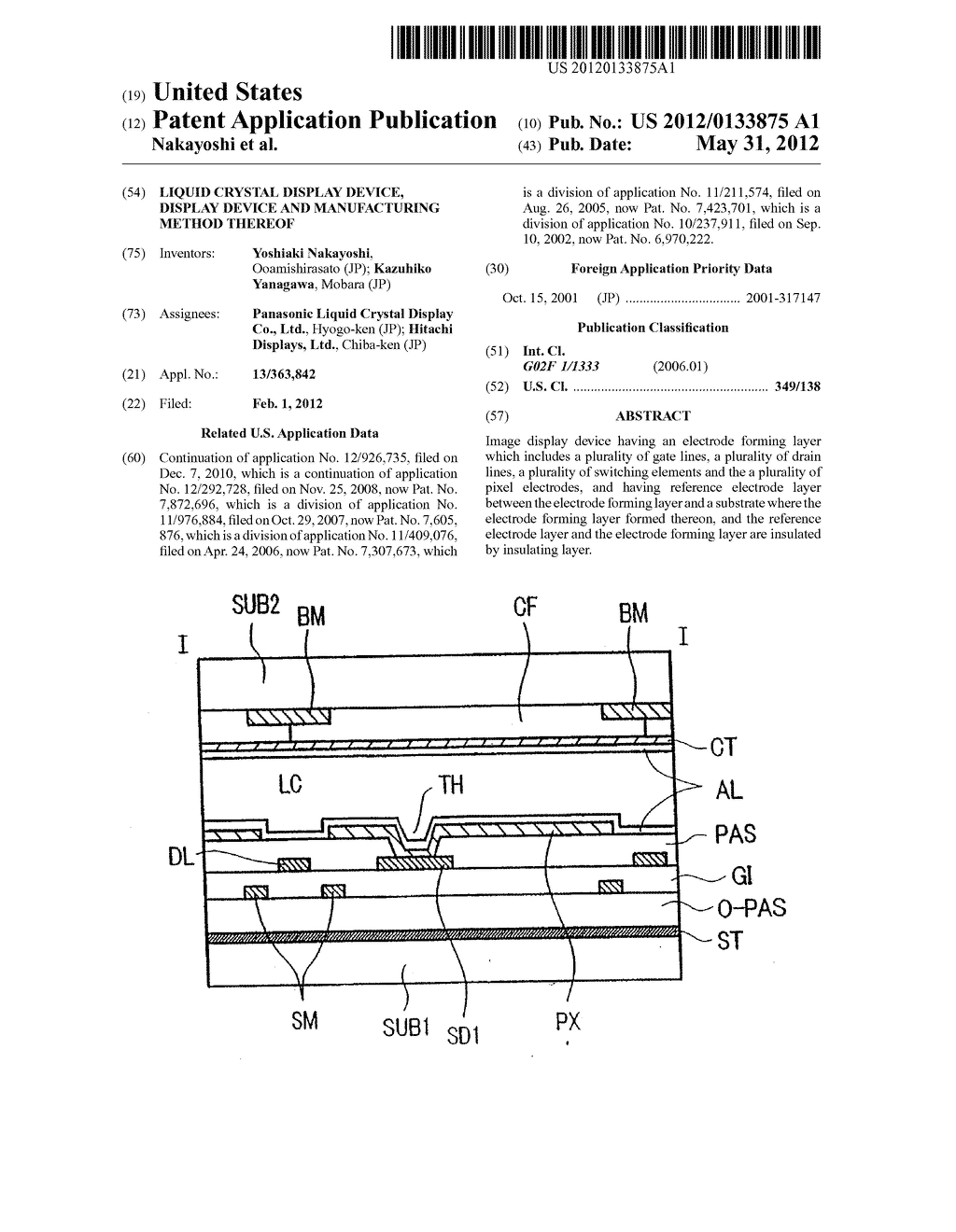 Liquid Crystal Display Device, Display Device and Manufacturing Method     Thereof - diagram, schematic, and image 01