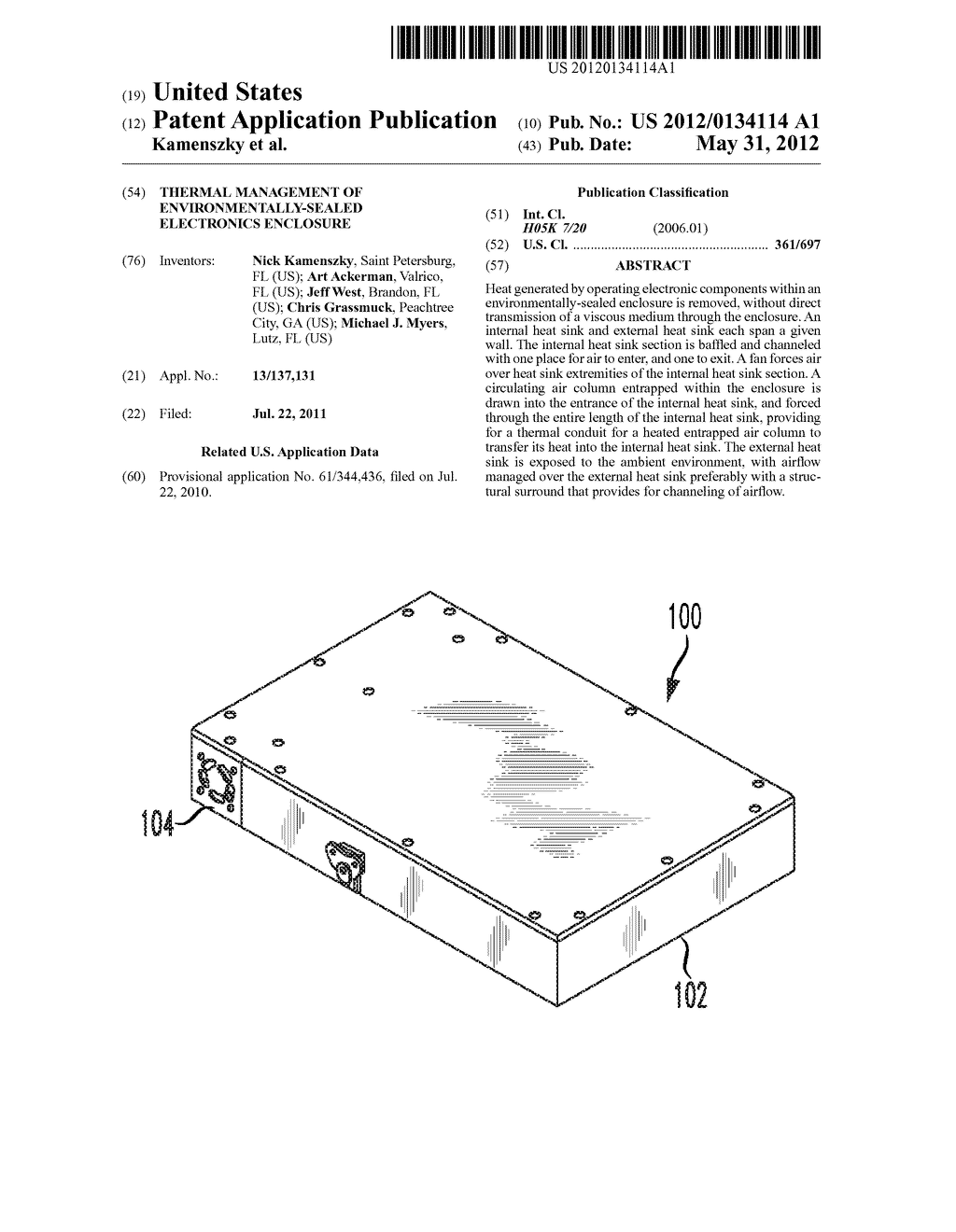 Thermal management of environmentally-sealed electronics enclosure - diagram, schematic, and image 01