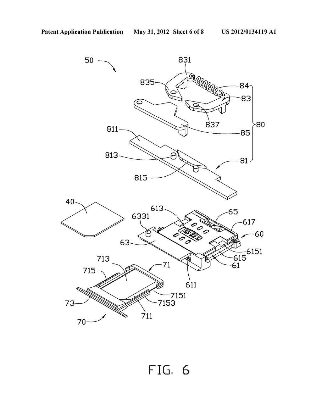 CHIP CARD HOLDING MECHANISM AND ELECTRONIC DEVICE USING THE SAME - diagram, schematic, and image 07