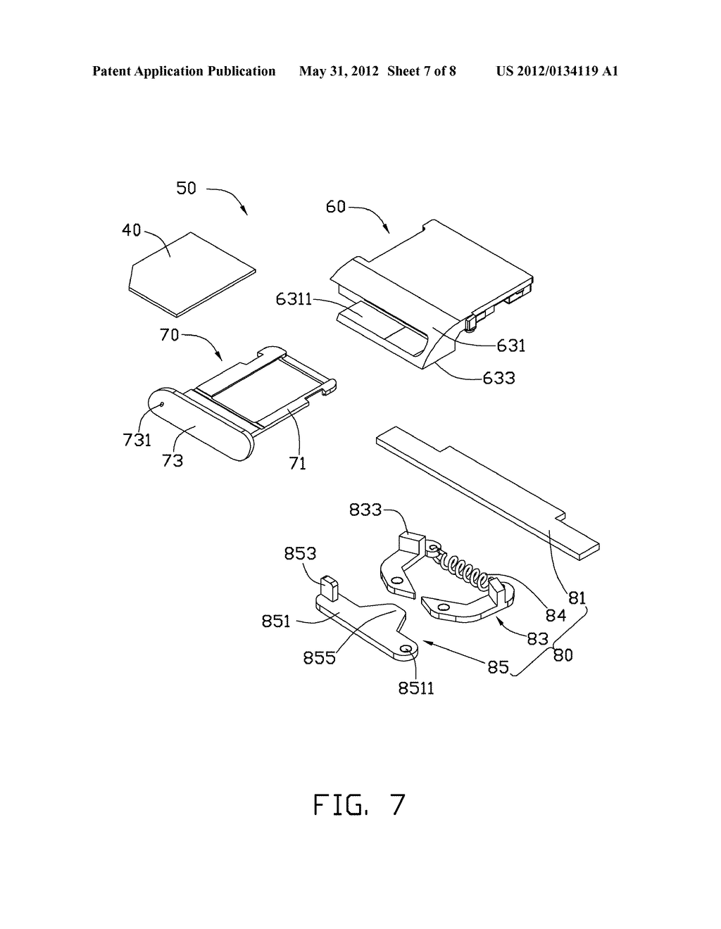CHIP CARD HOLDING MECHANISM AND ELECTRONIC DEVICE USING THE SAME - diagram, schematic, and image 08