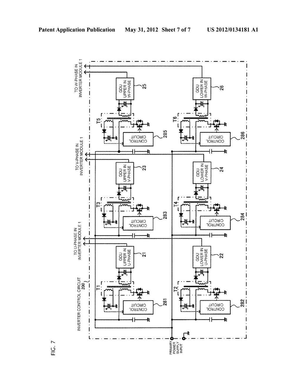 GATE DRIVING POWER SUPPLY SYSTEM AND INVERTER CONTROL CIRCUIT - diagram, schematic, and image 08