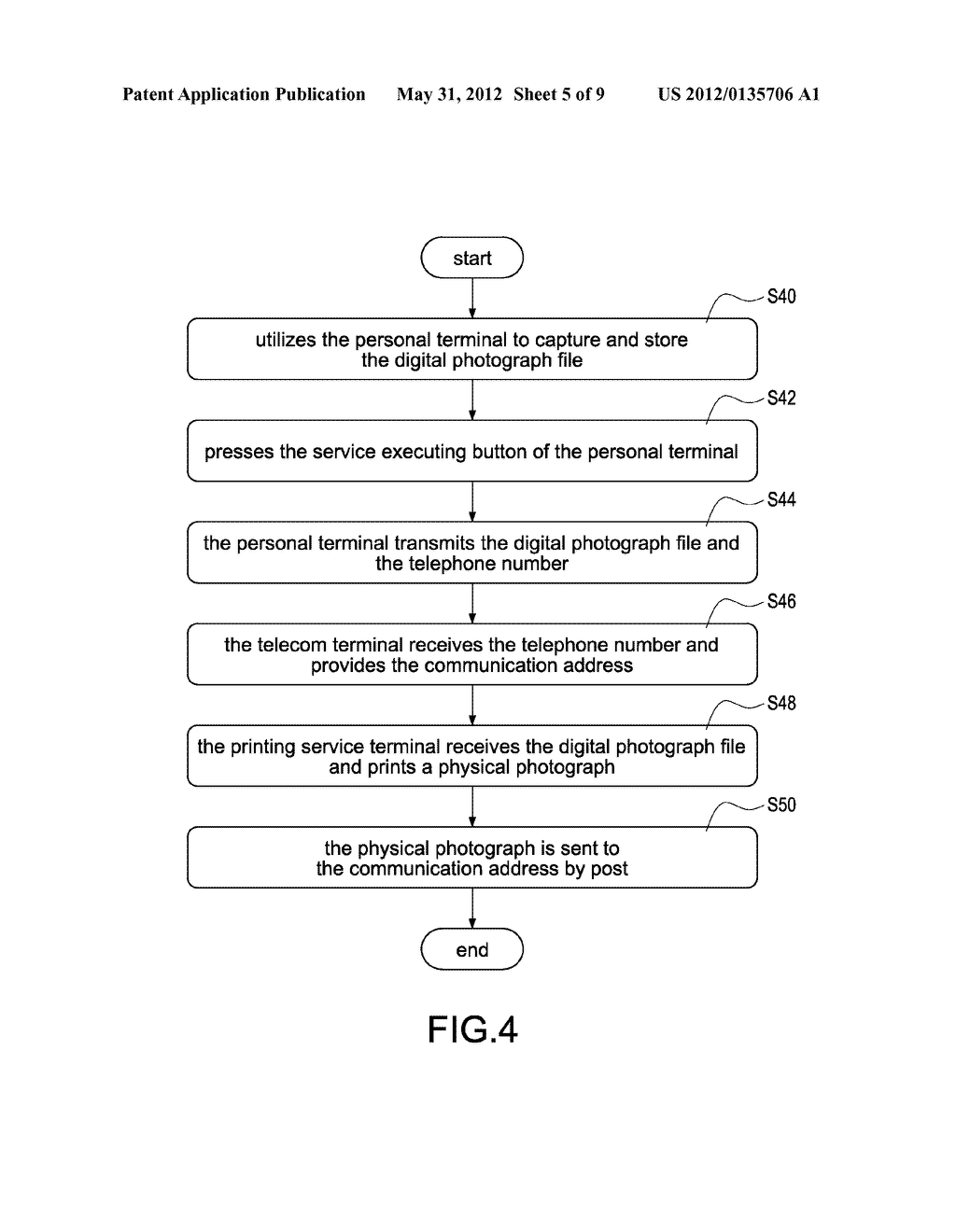 SYSTEM FOR REAL-TIME PHOTOGRAPH PRINTING SERVICE AND METHOD FOR THE SAME - diagram, schematic, and image 06