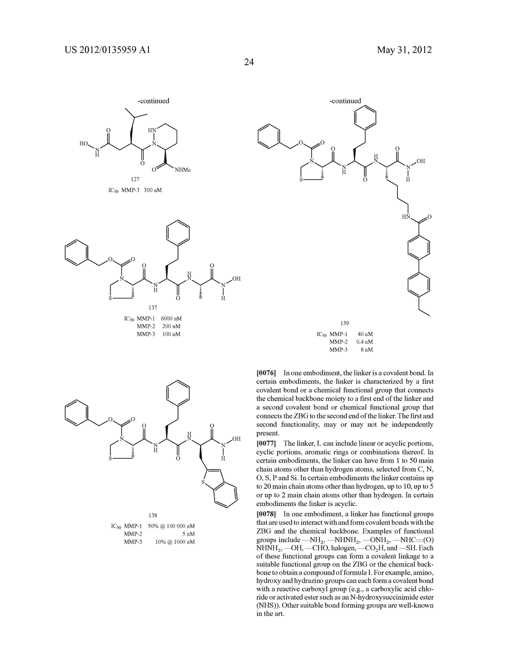 Metalloprotein inhibitors containing nitrogen based ligands - diagram, schematic, and image 29