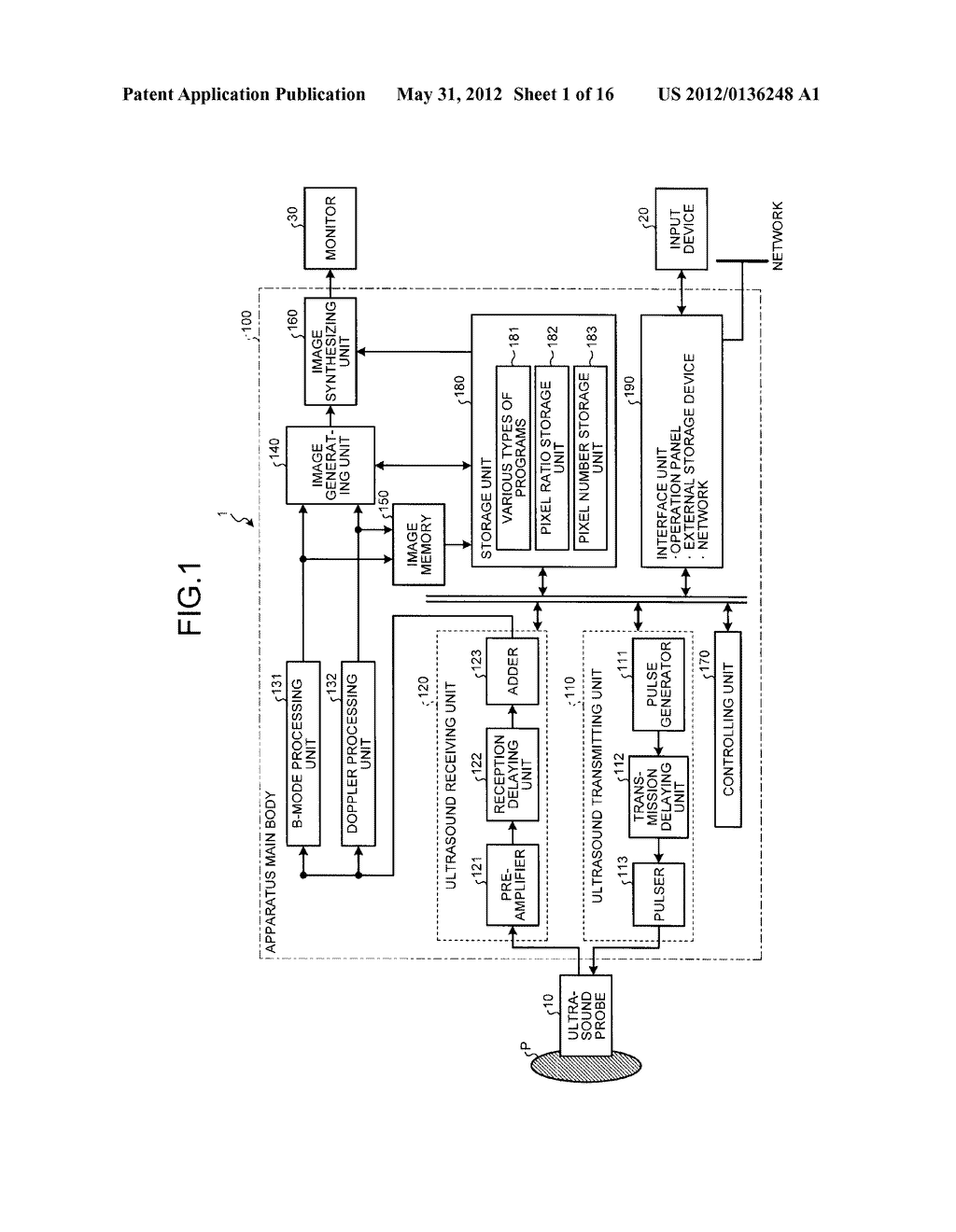 ULTRASOUND DIAGNOSIS APPARATUS, IMAGE GENERATING METHOD, AND IMAGE     PROCESSING APPARATUS - diagram, schematic, and image 02