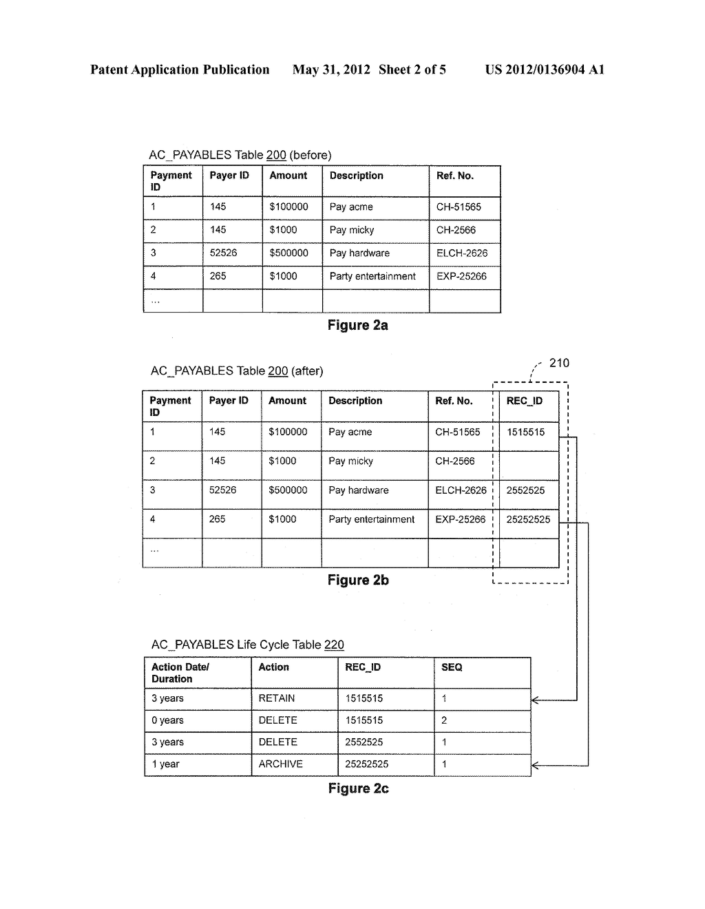 RECORDS MANAGEMENT OF DATABASE TABLES - diagram, schematic, and image 03