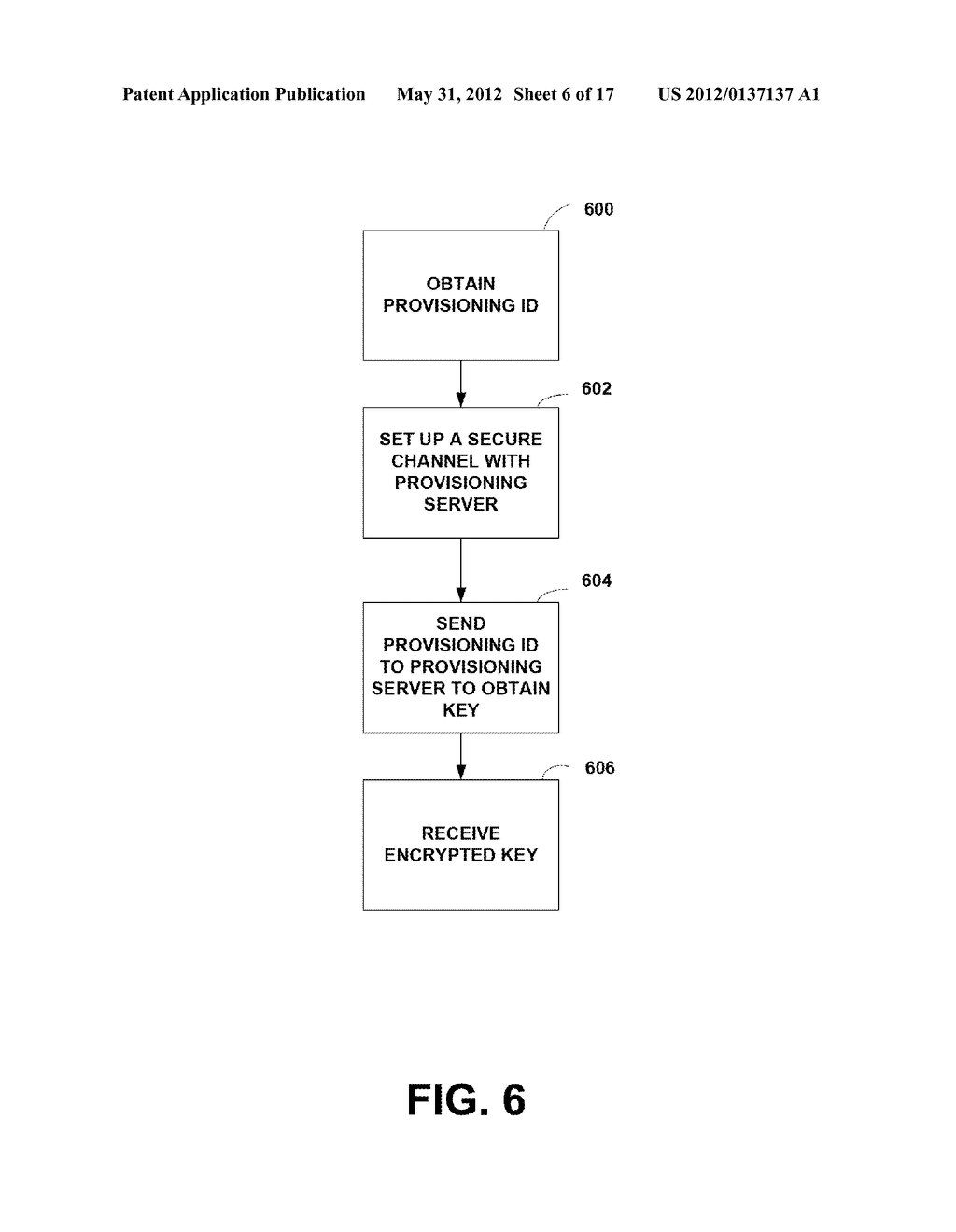 METHOD AND APPARATUS FOR KEY PROVISIONING OF HARDWARE DEVICES - diagram, schematic, and image 07