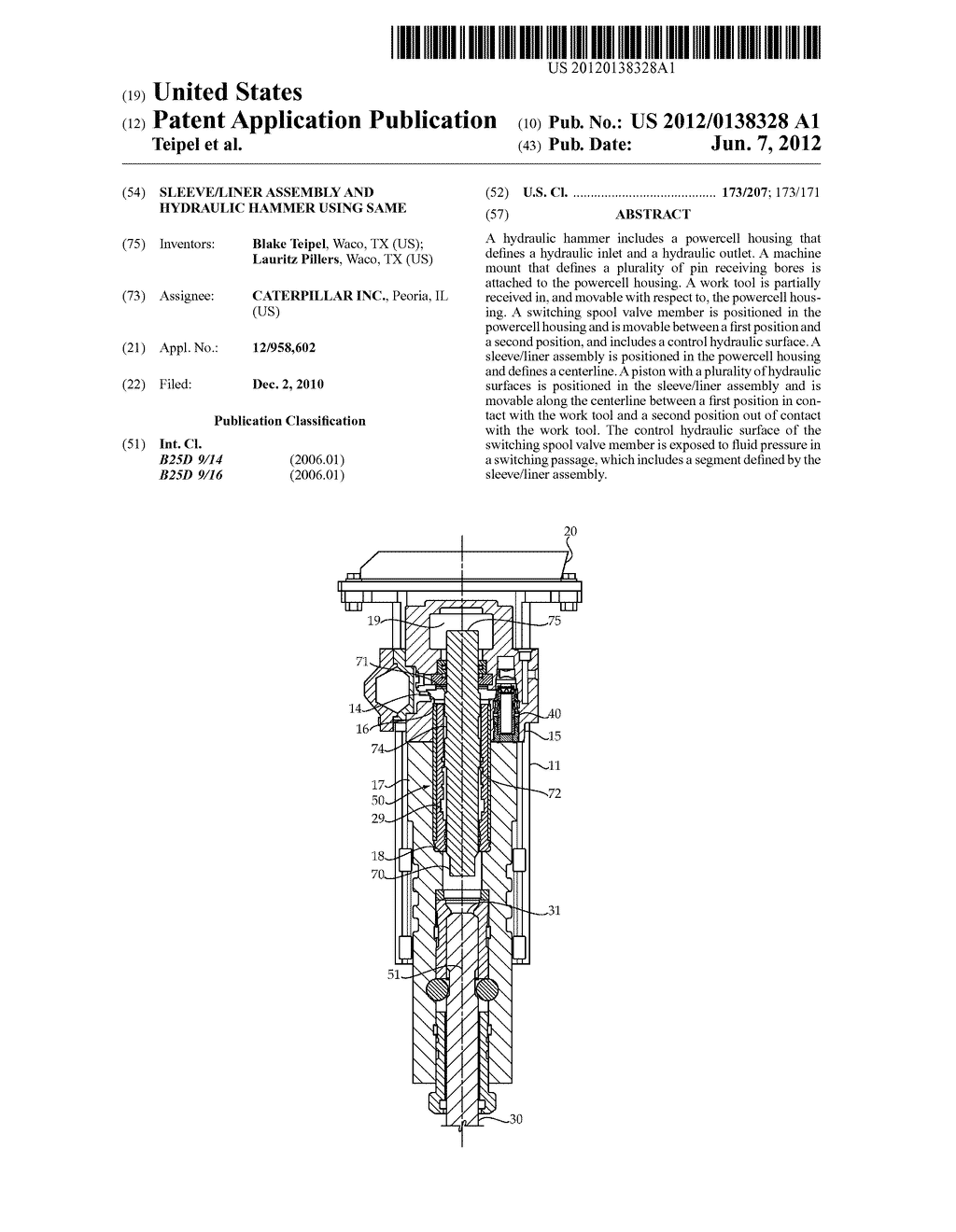 sleeve liner assembly and hydraulic hammer using same diagram rh patentsencyclopedia com
