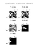 TWO-DIMENSIONAL CODE HAVING RECTANGULAR REGION PROVIDED WITH SPECIFIC     PATTERNS FOR SPECIFY CELL POSITIONS AND DISTINCTION FROM BACKGROUND diagram and image