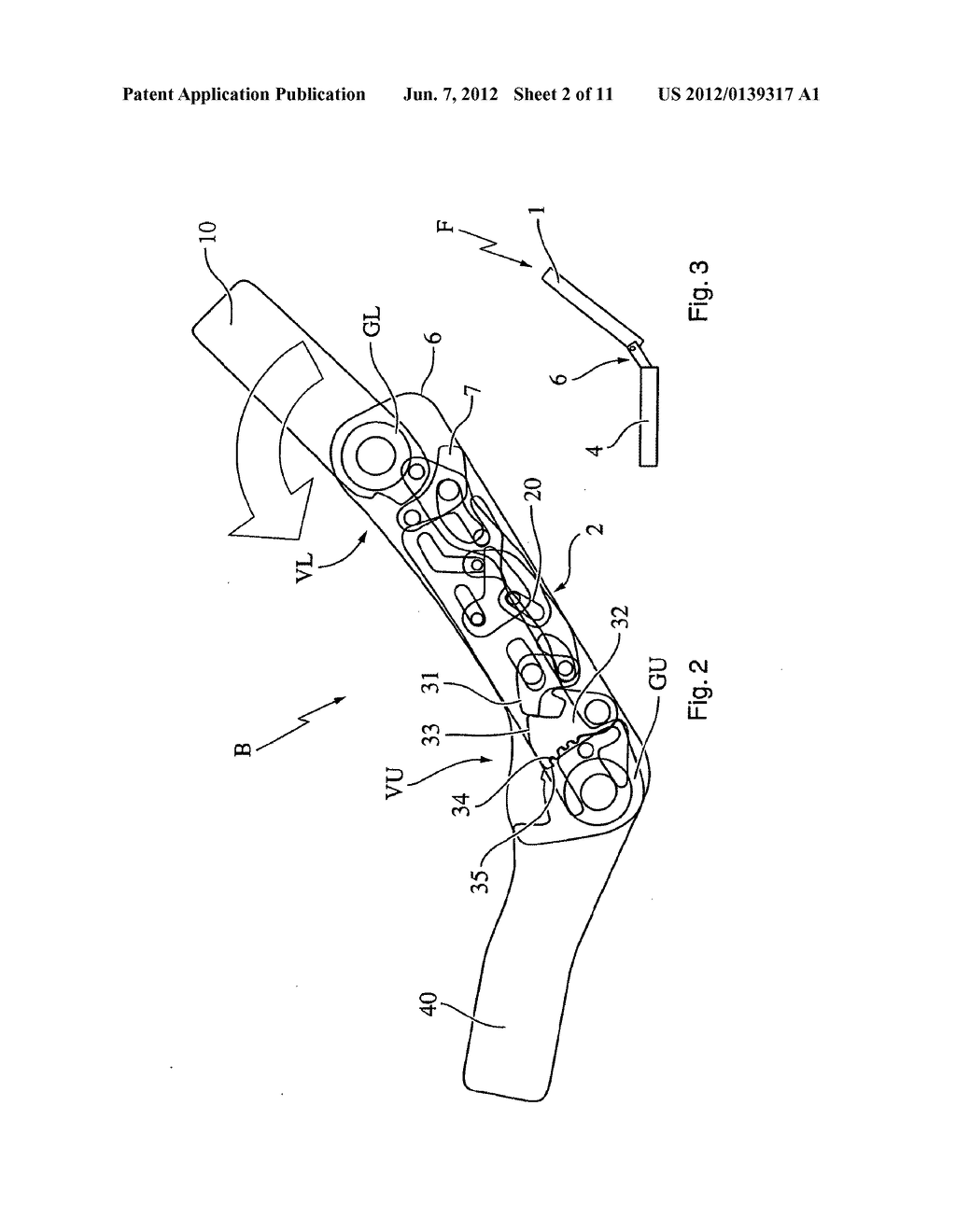 Motor Vehicle Seat and Method for Transferring a Seatback from the use     Position to a Stowed Position - diagram, schematic, and image 03