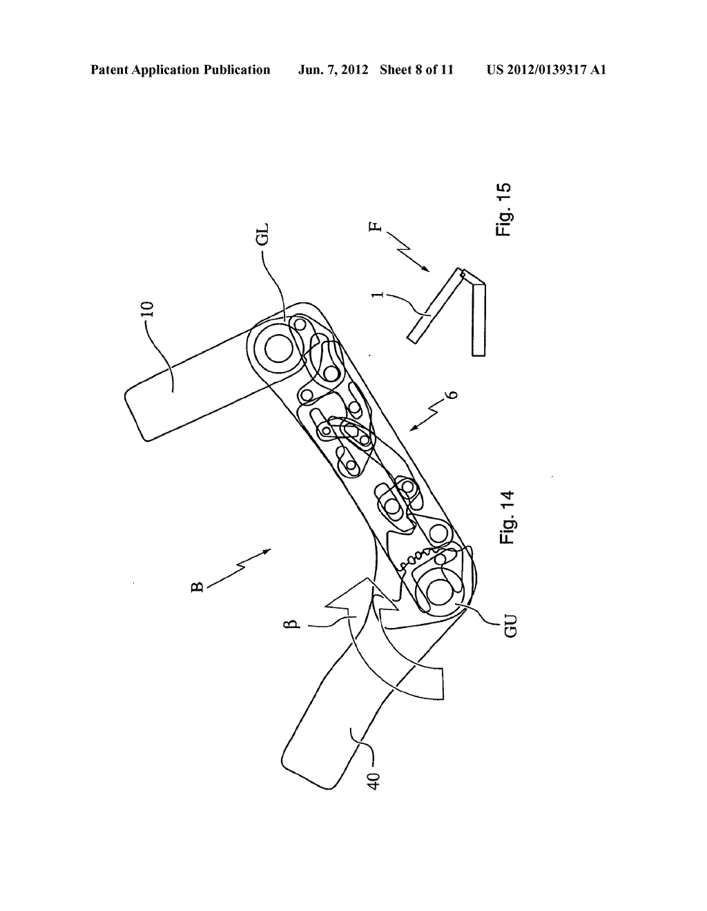 Motor Vehicle Seat and Method for Transferring a Seatback from the use     Position to a Stowed Position - diagram, schematic, and image 09