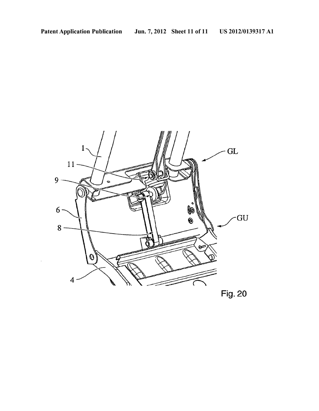 Motor Vehicle Seat and Method for Transferring a Seatback from the use     Position to a Stowed Position - diagram, schematic, and image 12