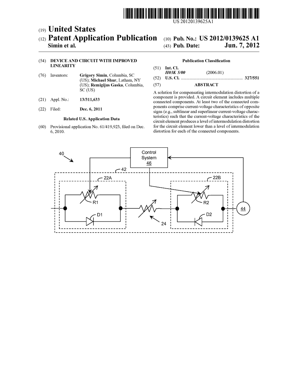 Device and Circuit with Improved Linearity - diagram, schematic, and image 01