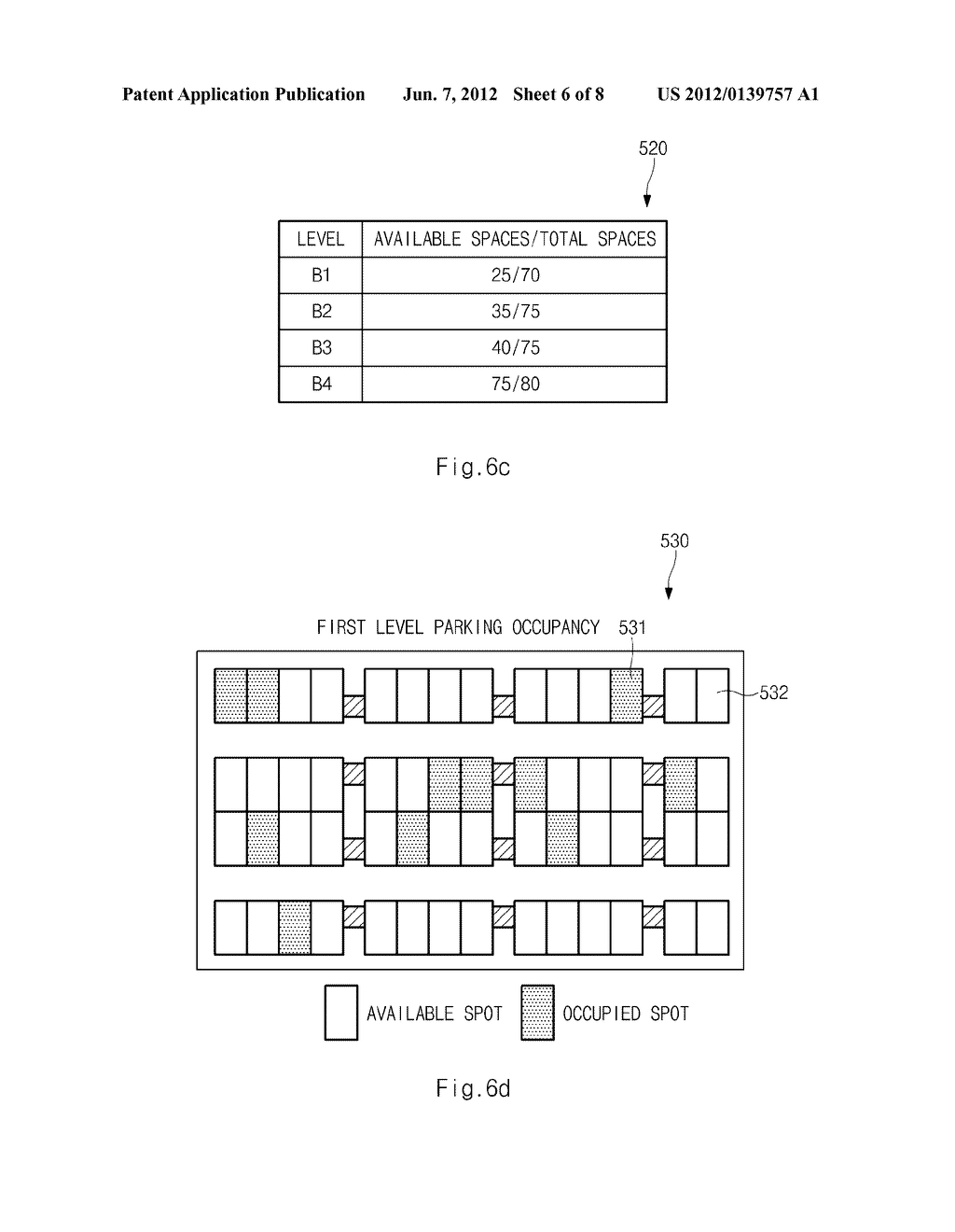 SYSTEM FOR PROVIDING PARKING INFORMATION BASED ON DUAL WIRELESS     COMMUNICATION AND METHOD THEREOF - diagram, schematic, and image 07