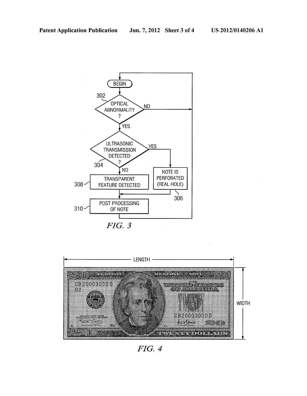 SYSTEM AND METHOD FOR THE ULTRASONIC DETECTION OF TRANSPARENT WINDOW     SECURITY FEATURES IN BANK NOTES - diagram, schematic, and image 04