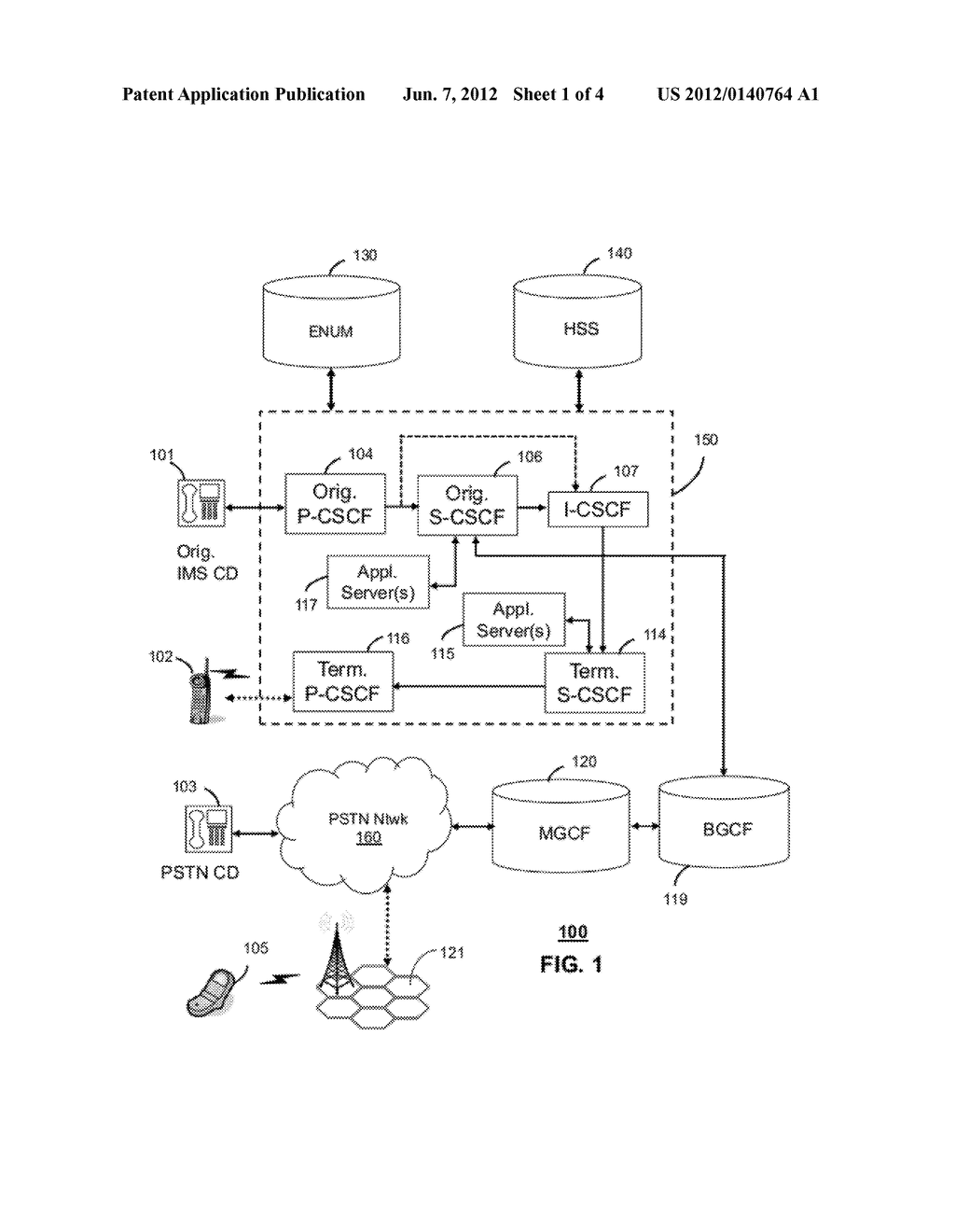 METHOD AND APPARATUS FOR CONFIGURING IP MULTIMEDIA SUBSYSTEM NETWORK     ELEMENTS - diagram, schematic, and image 02