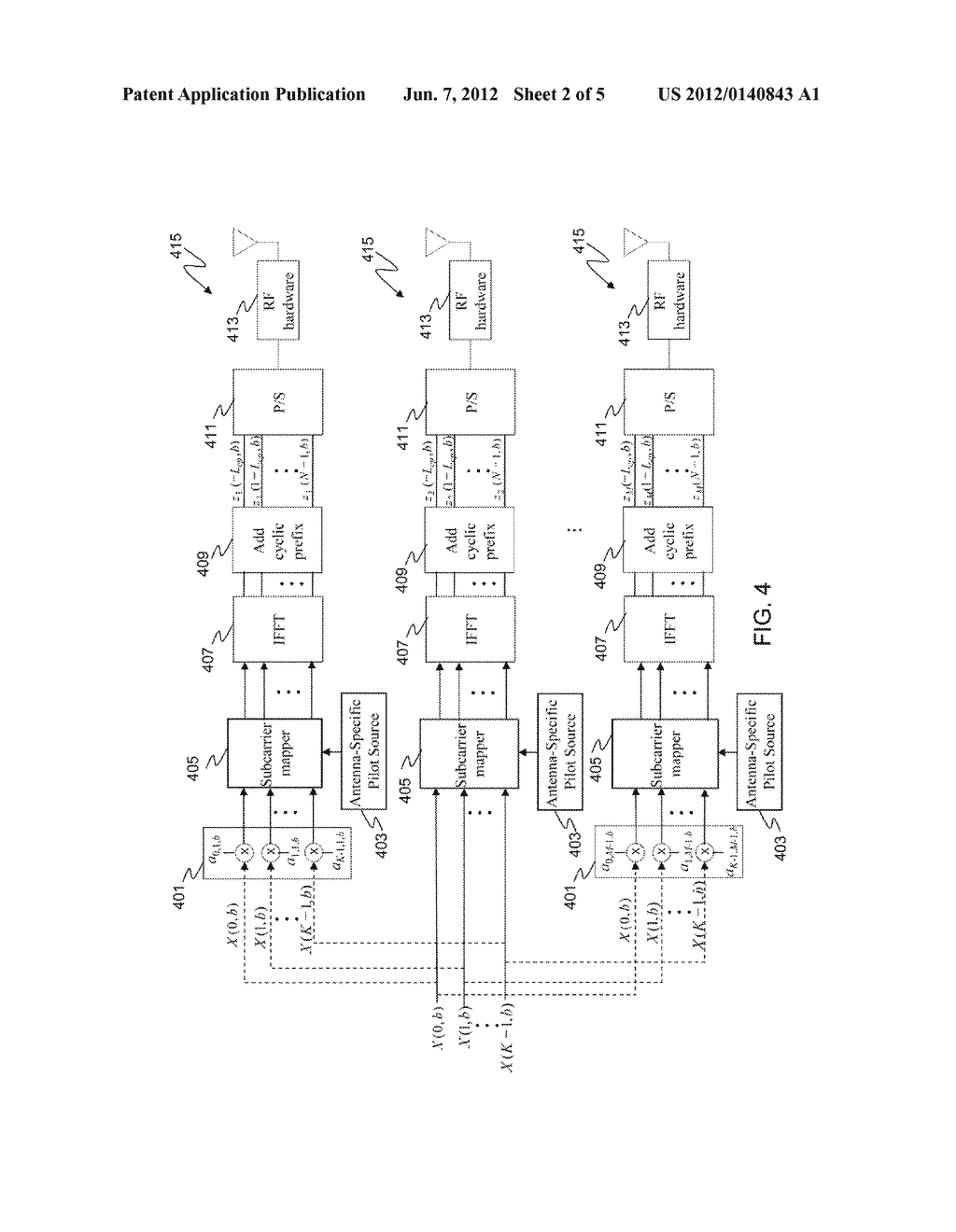 METHOD AND APPARATUS FOR TRANSMISSION WITHIN A MULTI-CARRIER COMMUNCATION     SYSTEM - diagram, schematic, and image 03