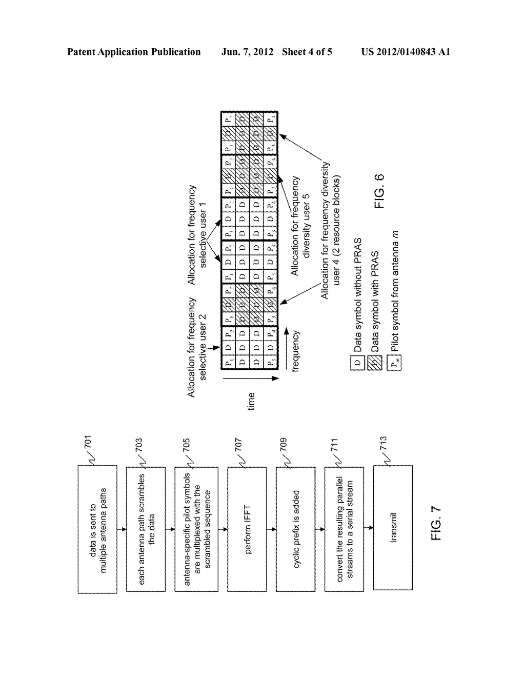 METHOD AND APPARATUS FOR TRANSMISSION WITHIN A MULTI-CARRIER COMMUNCATION     SYSTEM - diagram, schematic, and image 05