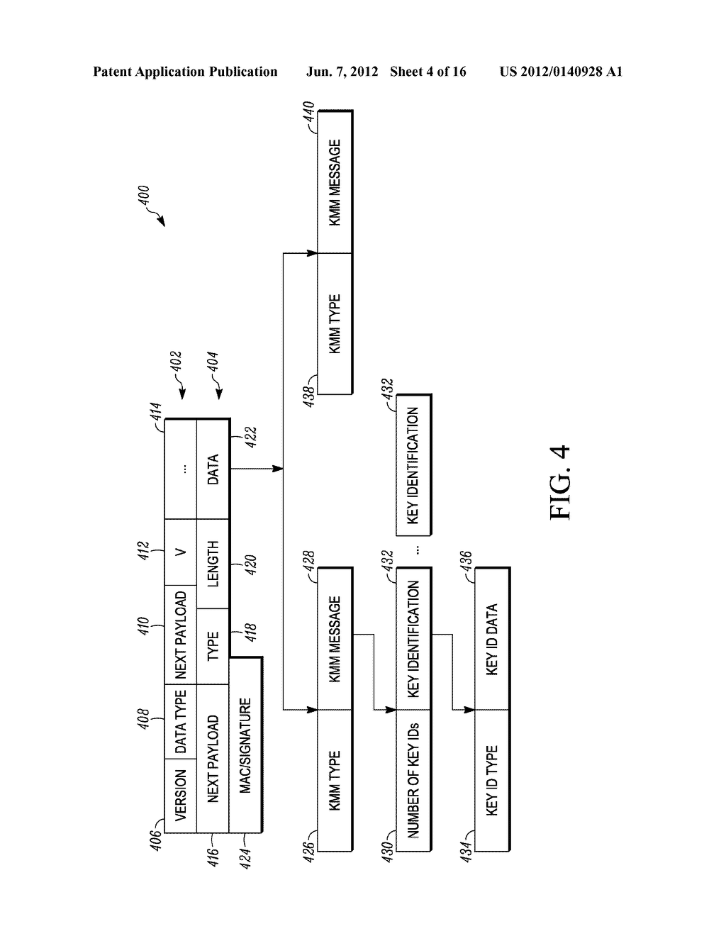 METHOD AND APPARATUS FOR EXTENDING A KEY-MANAGEMENT PROTOCOL - diagram, schematic, and image 05