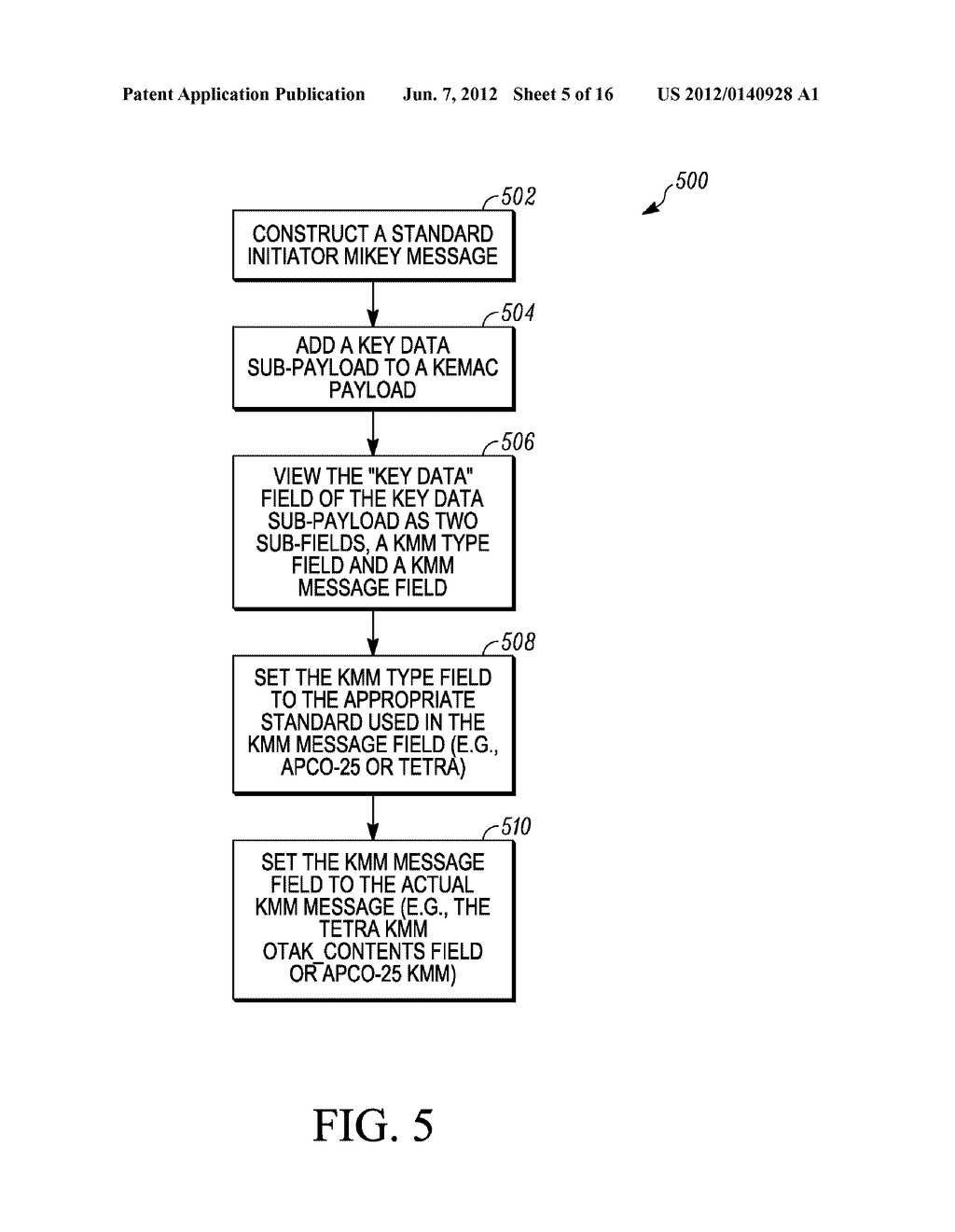 METHOD AND APPARATUS FOR EXTENDING A KEY-MANAGEMENT PROTOCOL - diagram, schematic, and image 06