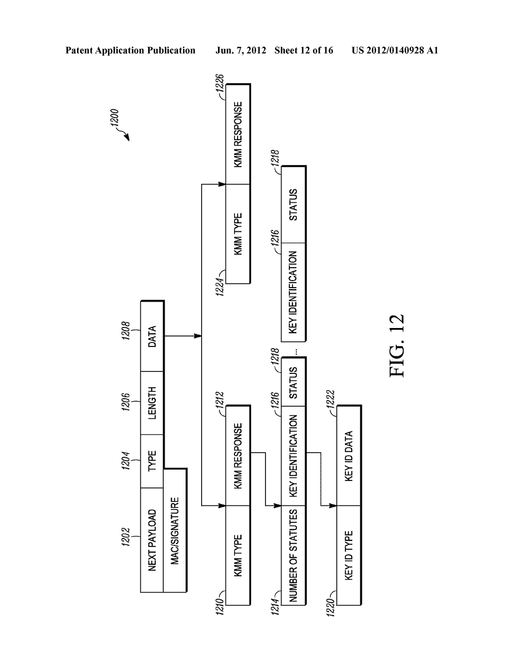 METHOD AND APPARATUS FOR EXTENDING A KEY-MANAGEMENT PROTOCOL - diagram, schematic, and image 13