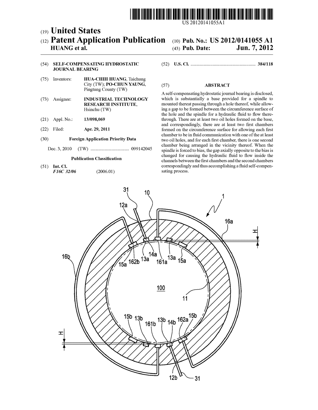 self-compensating hydrostatic journal bearing - diagram, schematic, and  image 01
