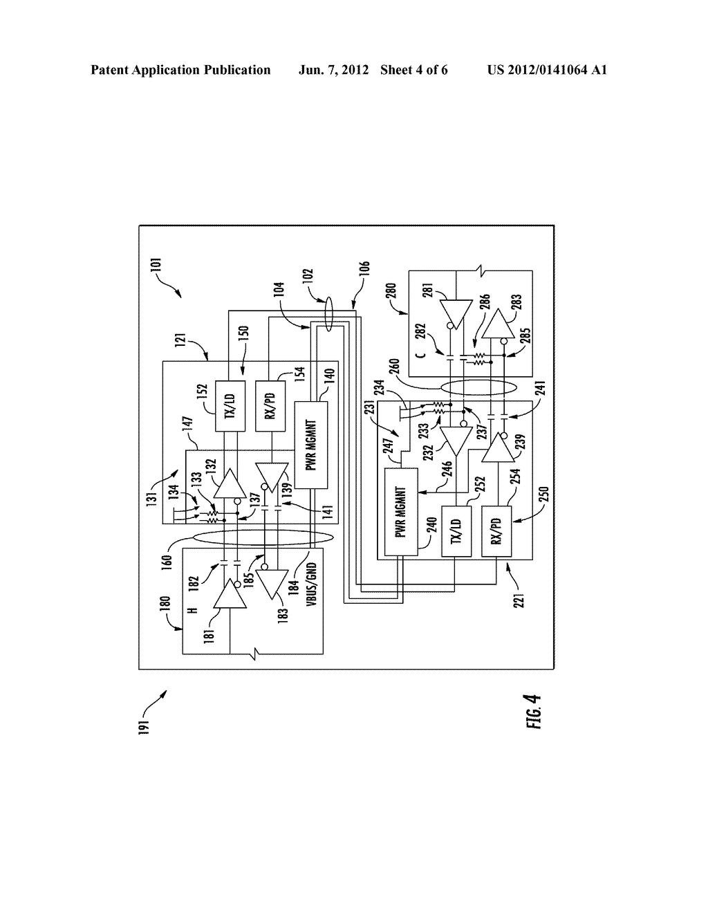 INTEGRATED CIRCUIT FOR FACILITATING OPTICAL COMMUNICATION BETWEEN     ELECTRONIC DEVICES - diagram, schematic, and image 05