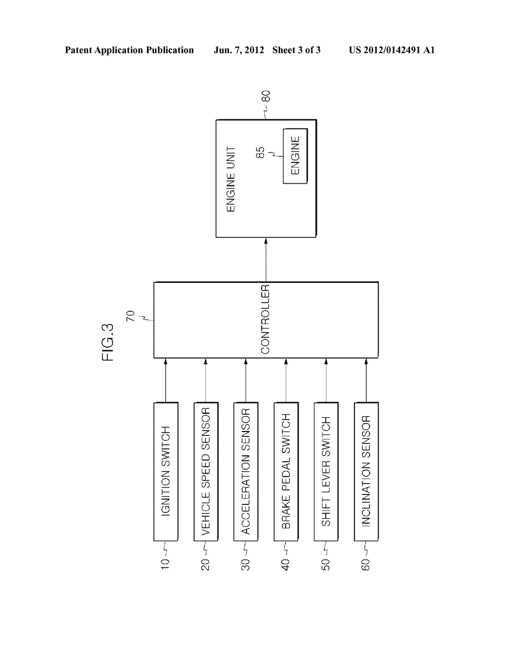 METHOD AND DEVICE FOR CONTROLLING ISG LOGIC - diagram, schematic, and image 04