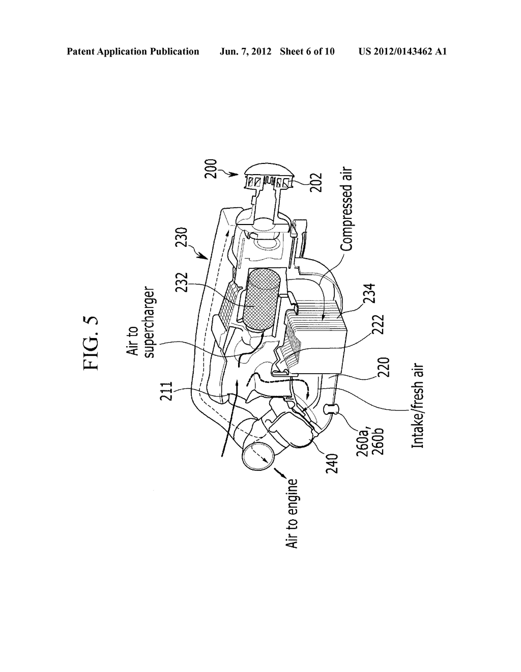 Engine Having Supercharged Intake System With Cda Valve Supercharger Diagram Arrangement And Methods Related Thereto Schematic Image 07