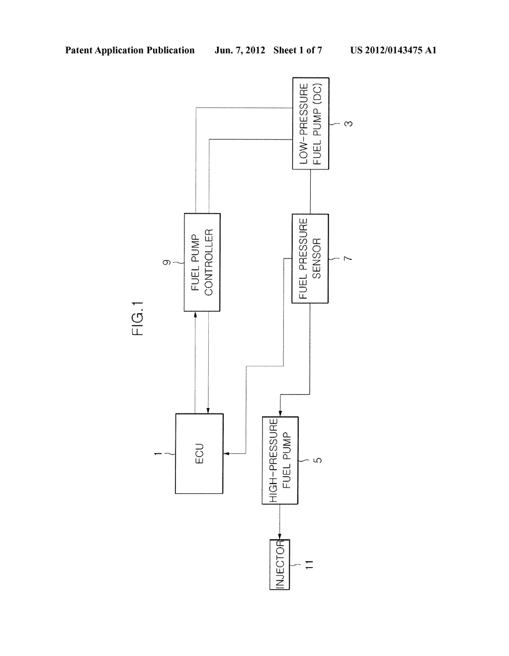 FUEL SUPPLY SYSTEM FOR GDI ENGINE AND CONTROL METHOD THEREOF - diagram,  schematic, and image 02