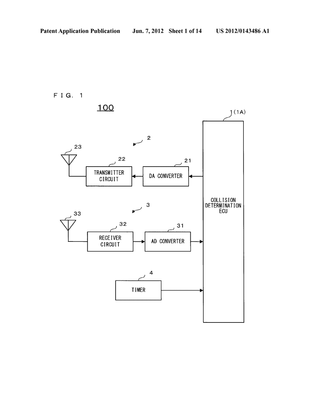 DISTANCE DETECTION DEVICE AND COLLISION DETERMINATION DEVICE - diagram, schematic, and image 02
