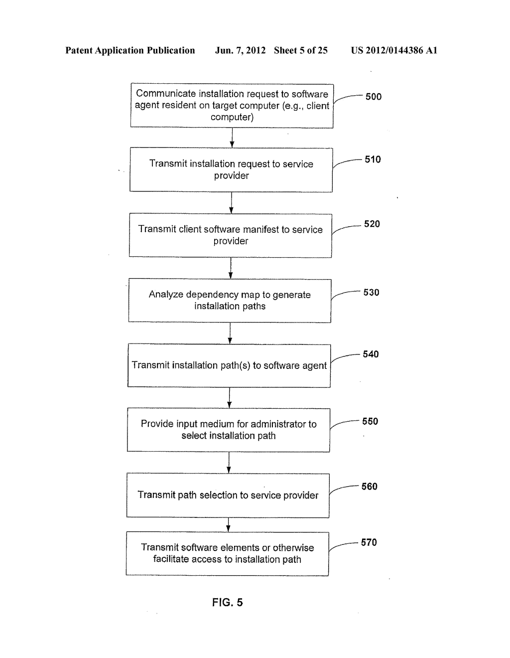APPARATUS AND METHOD FOR MONITORING SOFTWARE INSTALLATION PERFORMANCE - diagram, schematic, and image 06