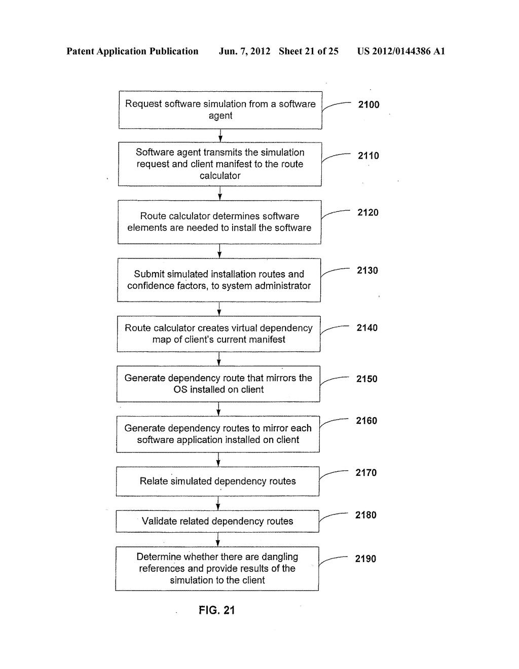 APPARATUS AND METHOD FOR MONITORING SOFTWARE INSTALLATION PERFORMANCE - diagram, schematic, and image 22