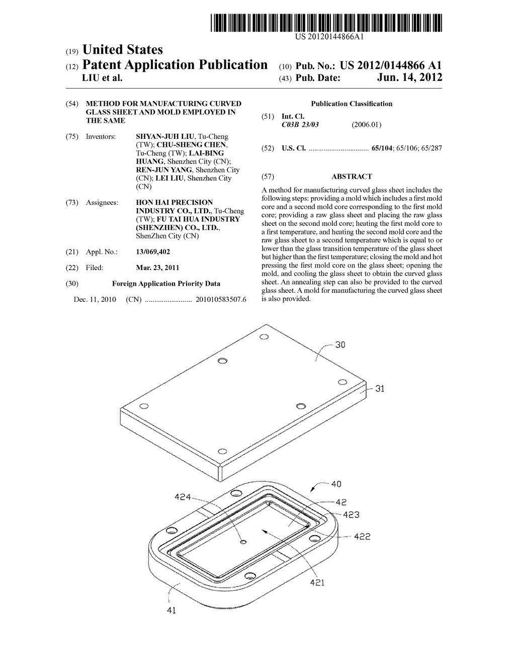 METHOD FOR MANUFACTURING CURVED GLASS SHEET AND MOLD EMPLOYED IN THE SAME - diagram, schematic, and image 01