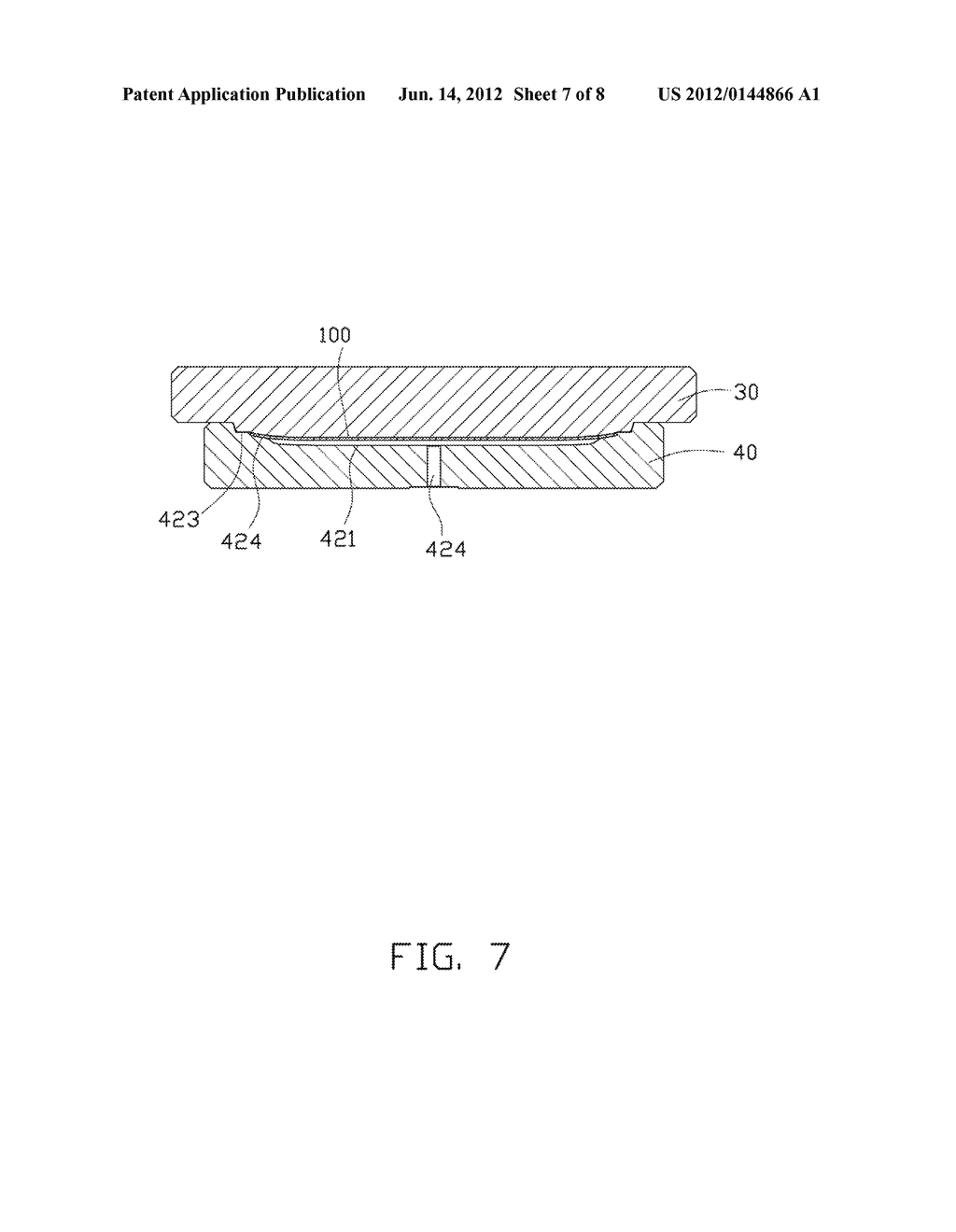 METHOD FOR MANUFACTURING CURVED GLASS SHEET AND MOLD EMPLOYED IN THE SAME - diagram, schematic, and image 08